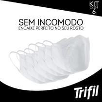 Kit máscara lavável e reutilizável dupla face 6x1 trifil -
