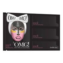 Kit Máscaras Faciais 4 em 1 Zone Mask System OMG Double Dare - Doube dare