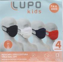Kit Máscaras LUPO Kids c/04 unid. & 04- Cores -
