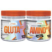Kit Massa e Recuperação Glutafit 300g + Amino Fit 300g - ExtremeFit -