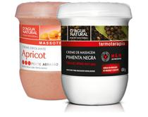 Kit Massagem Pimenta Negra  e Esfoliante Forte 650g Dagua Natural