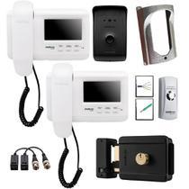 Kit Master Video Porteiro IVR 1010 Intelbras Com 2 Internos - 7000