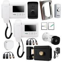 Kit Master Video Porteiro IVR 1010 Intelbras Com 2 Monitores -