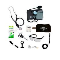Kit Material De Bolso Para Enfermagem Completo com Esfigmomanômetro Premium - Premium / G-Tech