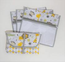 Kit Maternidade - 3 Saquinhos + Trocador - Alinhado Baby