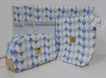 Kit Maternidade - 5 Saquinhos + 2 Porta Fraldas + Necessaire - Alinhado baby