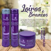 Kit Matizador Begônia Blond Platinum Shampoo E Condicionador 400ml + Máscara 300g - Begônia Cosméticos
