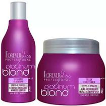 Kit Matizador Platinum Blond Shampoo + Mascara 250g - Forever Liss