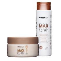Kit Max Repair (Shampoo e Máscara) - Mister Hair -