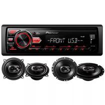 Kit Media Mvh-98ub + Alto Falantes Ts1790br+ts1390br Pioneer - Pionner