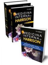 Kit medicina interna de harrison + harrison preparação para provas e concursos - 3 volumes - Mcgraw hill - artmed -