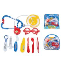Kit médico azul infantil com acessórios mini doctor - Fênix -