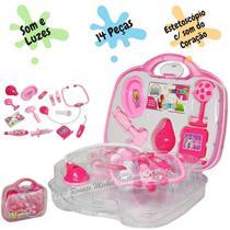 Kit Médico Infantil Brinquedo Maleta Doutor DM 14 pçs Luz e Som - Dm Toys