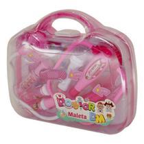 Kit Médico Maleta Doutora Infantil Brinquedo C/ Som Luz Rosa - Dm Toys -