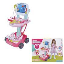 Kit Médico Mini Doutora Rosa Criança Brinquedo Fenix - Fênix