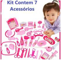 Kit Médico Pequena Doutora Cartela Brinquedo Infantil Top Brincar e aprender - Emporio Magazine