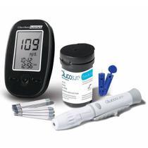 Kit Medidor de Glicemia Glucosure Com Estojo Preto Multilaser -