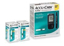 Kit Medidor De Glicose Accu-chek Active Roche + 100 Tiras -