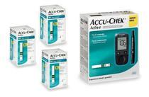 Kit Medidor De Glicose Accu-chek Active Roche + 150 Tiras -