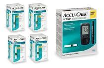 Kit Medidor De Glicose Accu-chek Active Roche + 200 Tiras -