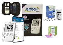 Kit Medidor de Glicose Free Lite Smart Completo com Bluetooth G-TECH + 50 Tiras + 50 Lancetas -