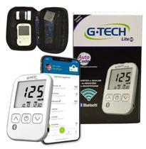 Kit Medidor de Glicose Free Lite Smart Completo com Bluetooth G-TECH -
