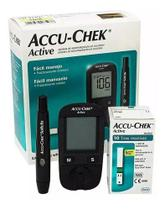 Kit Medidor Glicose Accu-chek Active + 50 Tiras +50 Softclix -