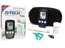 Kit Medidor Glicose Completo G-Tech Free c/ Tiras e Lancetas -