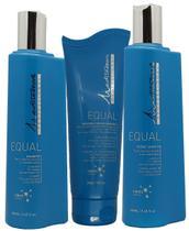 Kit Mediterrani Equal Shampoo, Máscara Cond. e Leave-in -