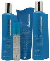 Kit Mediterrani Equal Shampoo Máscara Cond. Leave-in Sérum -