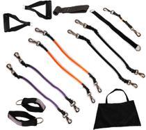 Kit Mega Elástico Fitness 6 Níveis de Tensão - Exetex Sports -