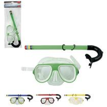 Kit Mergulho Natação Óculos e Snorkel Colorido - Wellmix