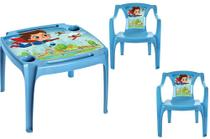 Kit Mesa c/ 2 Cadeiras Poltronas Com label Infantil Arqplast -