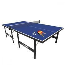 Kit Mesa de Ping Pong Klopf 15mm em MDP 1013 Acompanha 2 Raquetes, 3 Bolinhas, Suporte e Rede -
