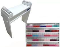 Kit Mesa Manicure  80cm + Expositor de esmaltes 80cm + 1 Compartimento de mesa - Loja Straub