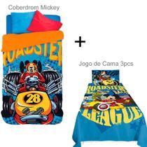 Kit Mickey sobre rodas Coberdrom + Jogo de cama - Lepper -