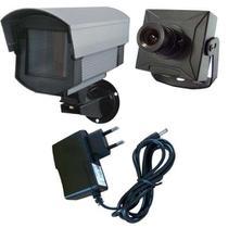 Kit Micro Câmera de Segurança + Caixa de Proteção + Fonte de Alimentação - Vtv