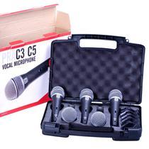 Kit Microfone de Mão PRA C5 com Chave (5 Peças) - SUPERLUX -