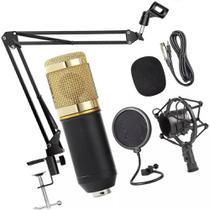 Kit Microfone Estúdio Pop Filter Aranha Braço Articulado XLR - Lelong