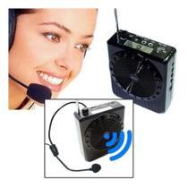 Kit Microfone Professor Radio Microfone Megafone Amplificador Voz - Mkb
