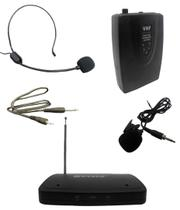 Kit Microfone Sem Fio Com Lapela Wireless Auricular Head Set Para Aulas Palestras (BSL-HEL-2) - Chang hong