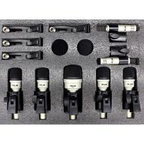 Kit Microfone Vokal Bateria Acústica Vdm7 -