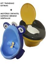 Kit Mictório Infantil Sapinho Azul + Troninho Batman Still Baby - Micbaby E Still Baby