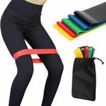 Kit Mini Band 5 Faixas elásticas Exercício Funcional pilates ginástica 891 - Lorben -