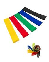 Kit mini band com 5 faixas elasticas - Supermedy