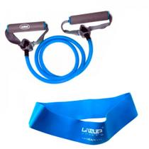 Kit Mini Band Forte + Extensor Forte Azul  Liveup -