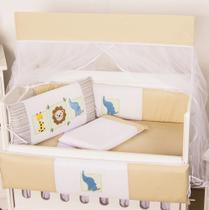 Kit Mini Berço Dengoso Bege 10 peças - Happy Baby
