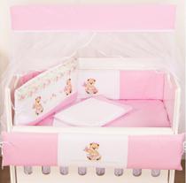 Kit Mini Berço Feminino Sasha 10 Peças - Happy Baby
