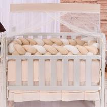 Kit Mini Berço Trança Happy Classic Bege 06 Peças - Zany Baby