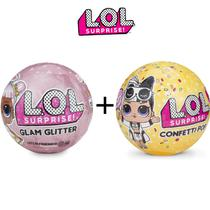Kit Mini Boneca Lol Glam Gliter + Lol Confetti Pop - Candide
